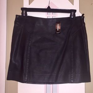 Express Leather Black Mini Dress   Size 0. NWT